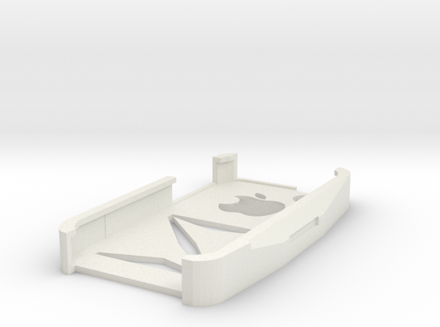 iPhone 4s case Z with apple shape in White Natural Versatile Plastic