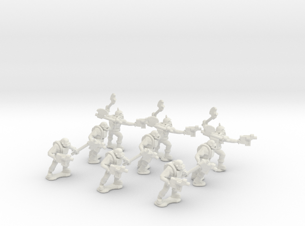 15mm Greenskin Grunts (x9) 3d printed