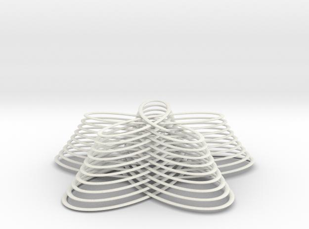 flowerStack 1 in White Natural Versatile Plastic