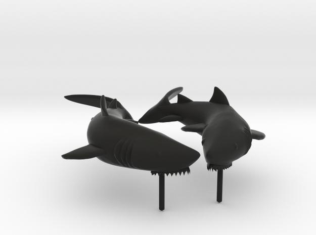 Shark Earrings 3d printed