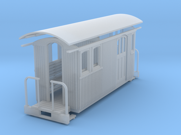 HOn30 small short combine 3d printed