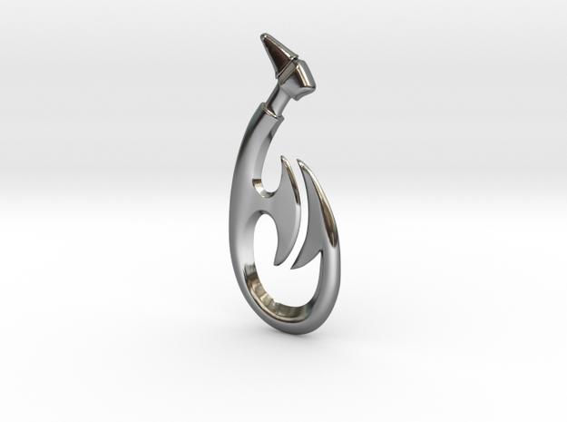 Maori Fish hook Pendant 3d printed