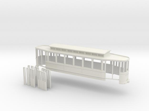 Chassis Beiwagen 6 Fensterwagen Rheinbahn in White Natural Versatile Plastic