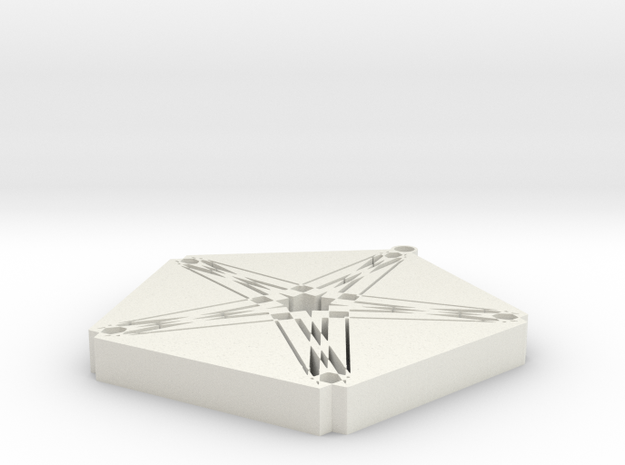 StarHex in White Natural Versatile Plastic