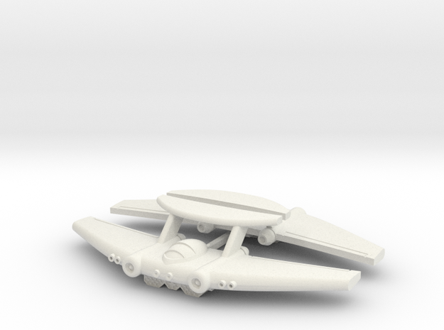 Chipmunk Space Fighter in White Natural Versatile Plastic