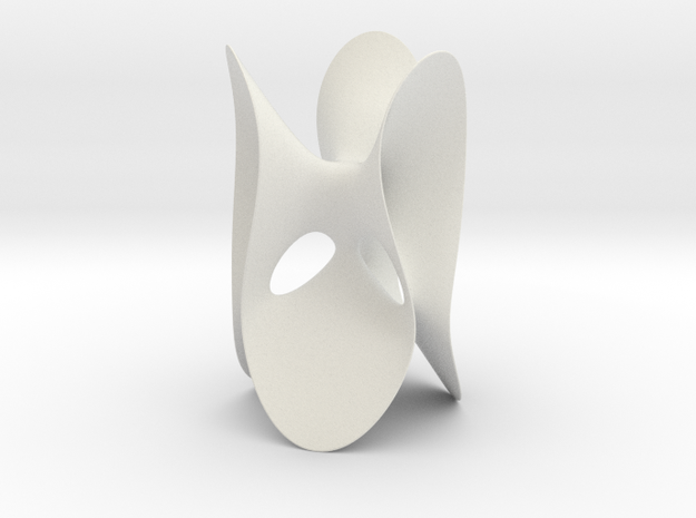 Clebsch Diagonal Surface, no lines, 119mm (4.7in) in White Natural Versatile Plastic