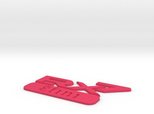 efini RX-7 Classic Rear Badge 3d printed