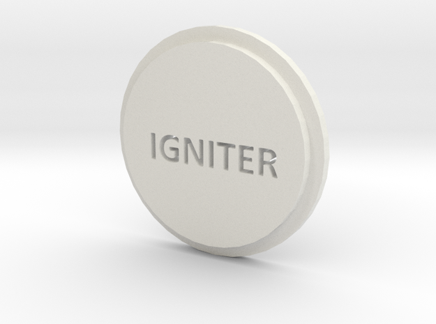 Pommel Insert Saying Igniter 3d printed