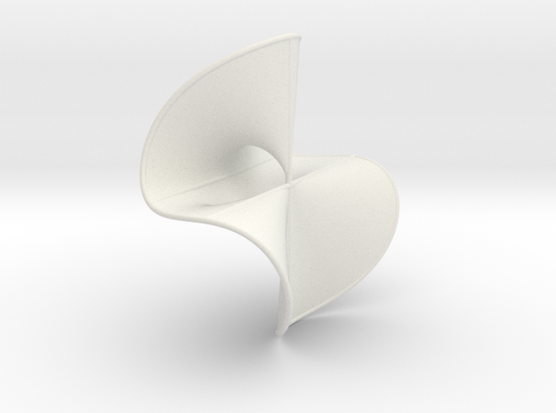 Cubic Surface, KM no. 42 in White Natural Versatile Plastic