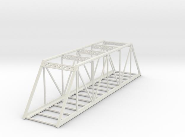 Straight Bridge - Z scale in White Natural Versatile Plastic