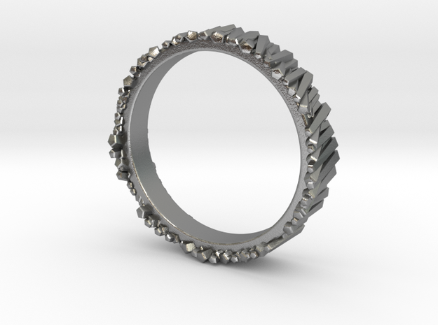 Matchstick ring 17mm in Natural Silver