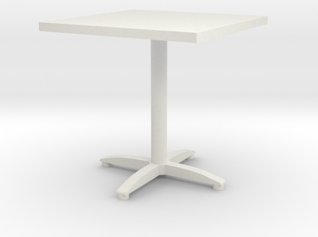 square bistro table in White Strong & Flexible