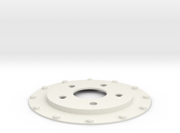 brake disk part 1 (repaired) in White Natural Versatile Plastic