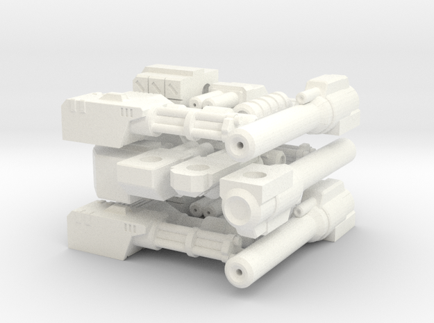 WHAM- Weapons (3x each) (1/160th) 3d printed