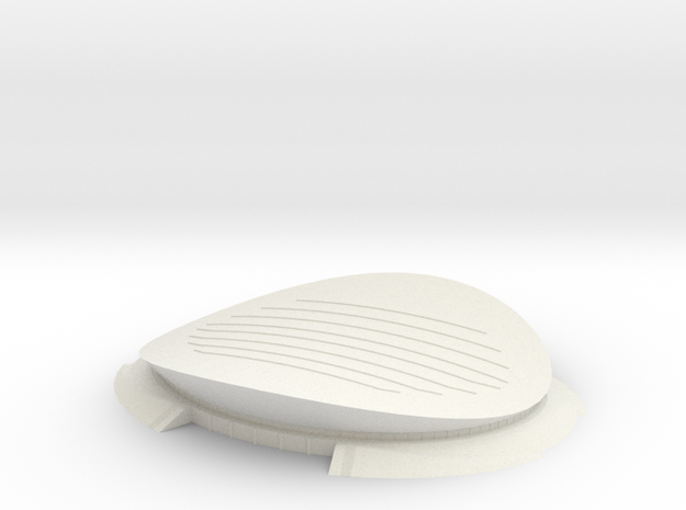 Olympic Velodrome in White Natural Versatile Plastic
