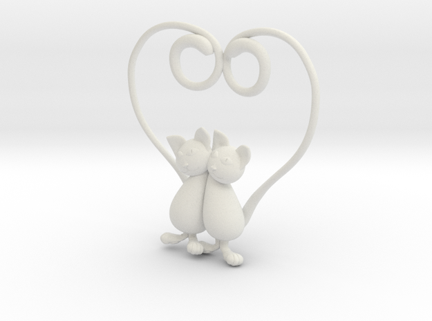 Kittens Heart 3d printed