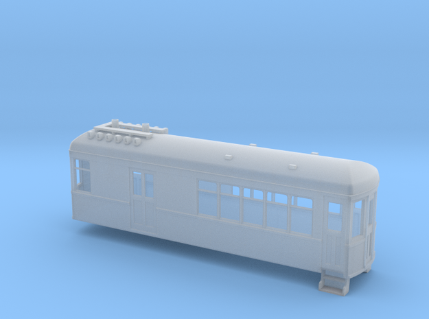 5.5mm scale gas electric car 3d printed