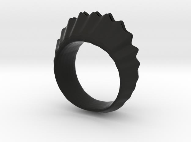 sea shell ring 3d printed