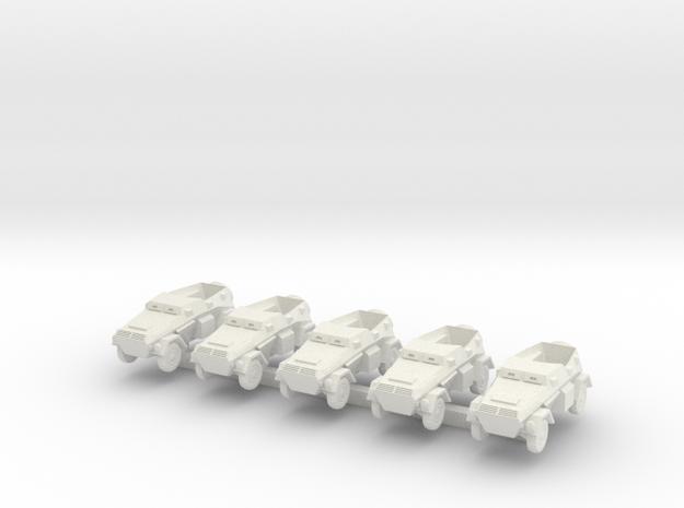 1/300 Sd.Kfz.247 B Armoured Staff Car in White Natural Versatile Plastic