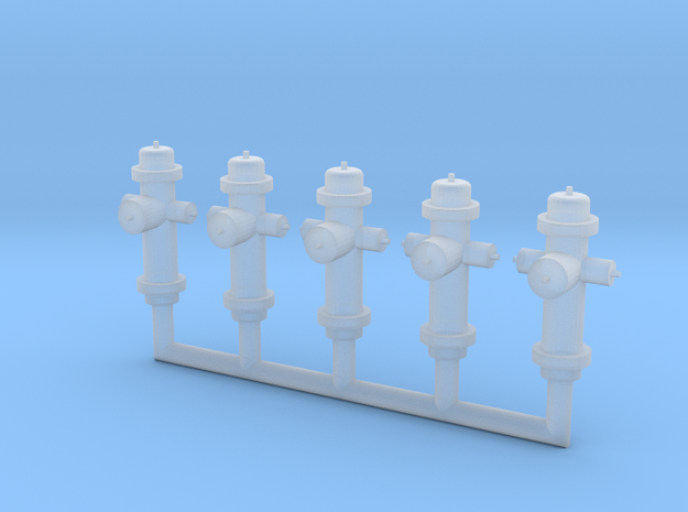 HO-Scale Fire Hydrants in Smooth Fine Detail Plastic