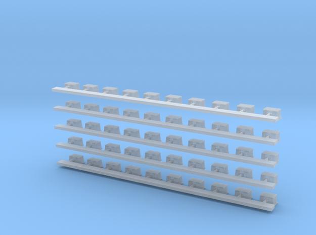 Halogenstrahler 50stck  in Smooth Fine Detail Plastic