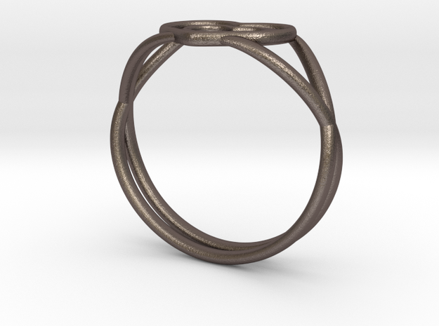 Heartwine - Size 7 in Polished Bronzed Silver Steel