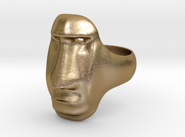 Easter Island Moai Ring 3d printed