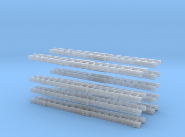 Steckleiterset B+B B+B+Fussteil 9x  in Smooth Fine Detail Plastic