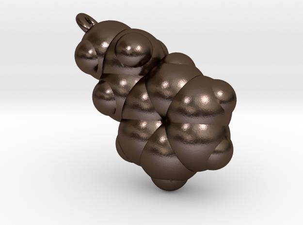 Love Molecule 2-PEA Pendant, Metal 3d printed