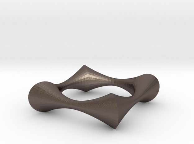 Swept Away: 4Point in Polished Bronzed Silver Steel