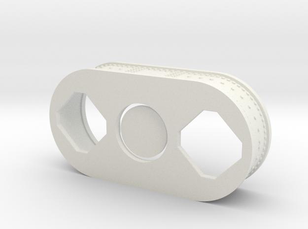 F1 3D Engine 1:12 Int Panel in White Natural Versatile Plastic
