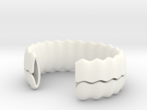 sea shell bracelet in White Processed Versatile Plastic