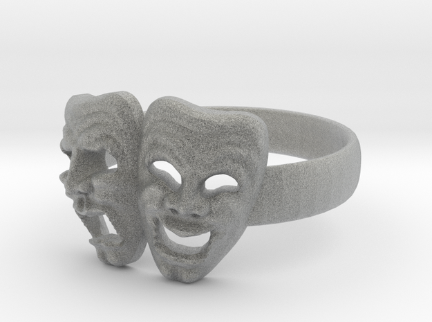 Comedy Tragedy Ring 3d printed