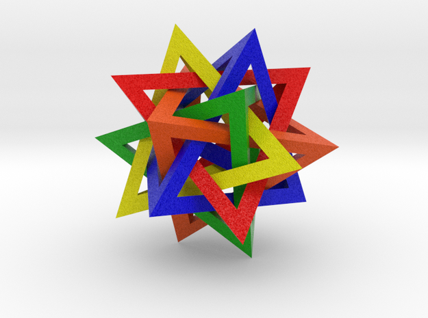 Compound of Five Tetrahedra Frames - Color 3d printed