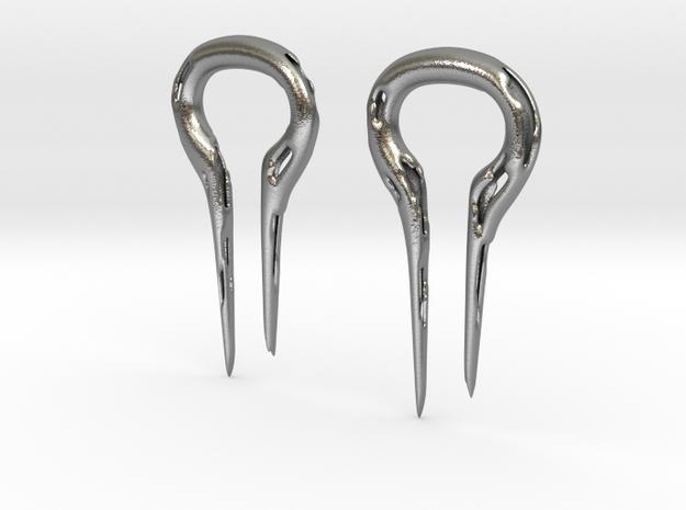 Molten Metal Earrings, 2 gauge 3d printed