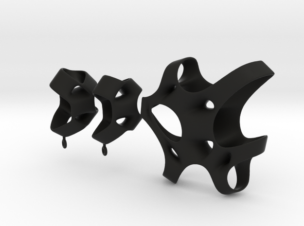 Sponge Collection - Earrings 3d printed