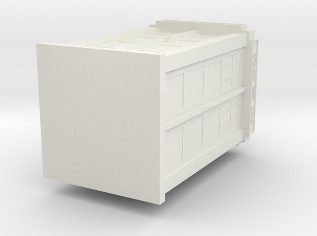 Tardis Pendant (solid) in White Natural Versatile Plastic