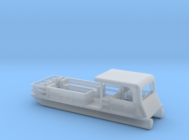 Pontoon Boat - Zscale in Smooth Fine Detail Plastic