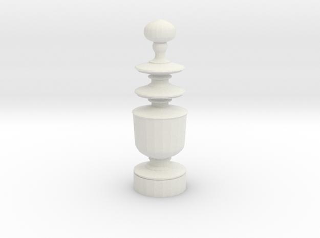 Smaller Staunton Queen Chesspiece 3d printed