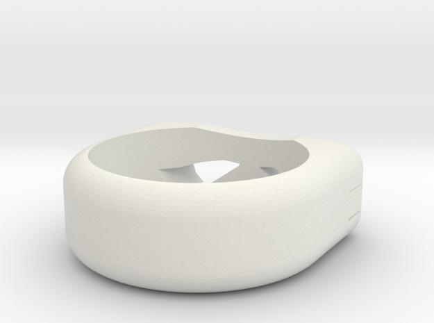 Ninja Turtle Ring in White Natural Versatile Plastic