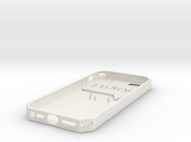 iPhone 5 Hokies Case in White Natural Versatile Plastic
