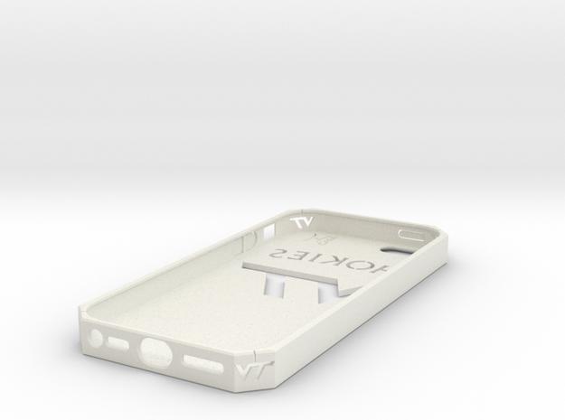 iPhone 5 Hokies Case in White Natural Versatile Plastic