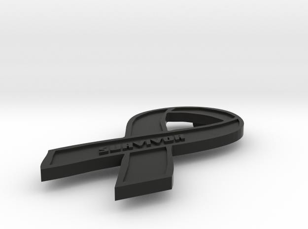 Cancer Servivor Ribon 3d printed