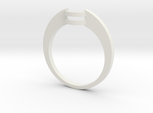Custom Wedding Band v4 in White Strong & Flexible