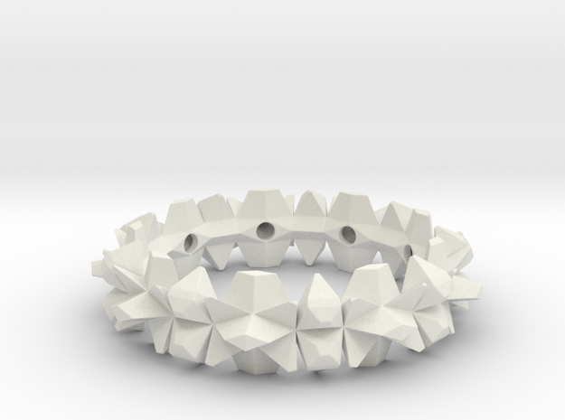 bangle 002 hollow 75mm in White Natural Versatile Plastic