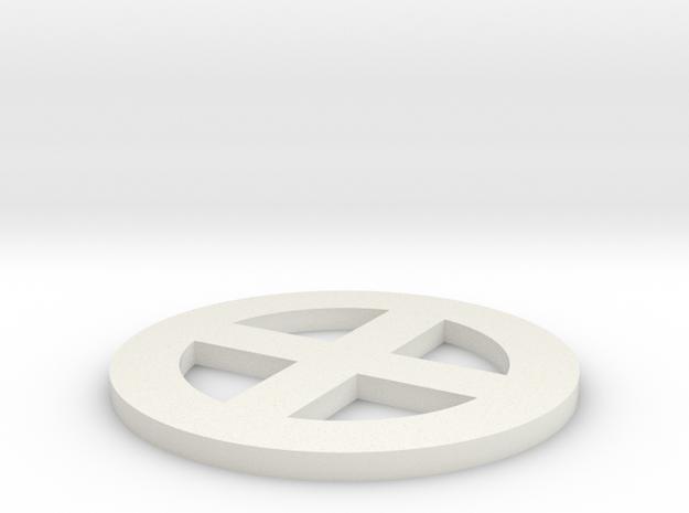 qc -- 2in dia, thin 3d printed