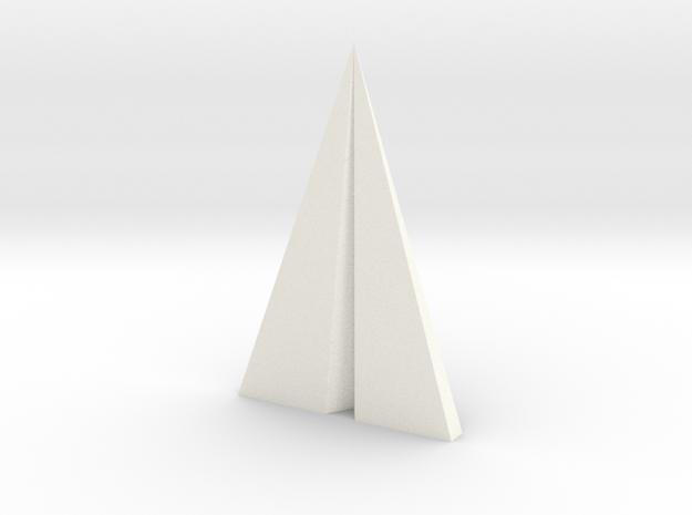Big Paper plane pendant in White Processed Versatile Plastic