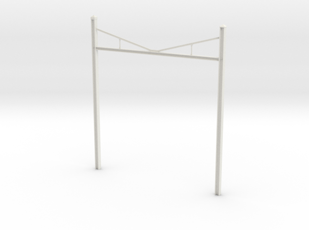 Catenary Pole Full Dimensions 4 inch centers in White Strong & Flexible