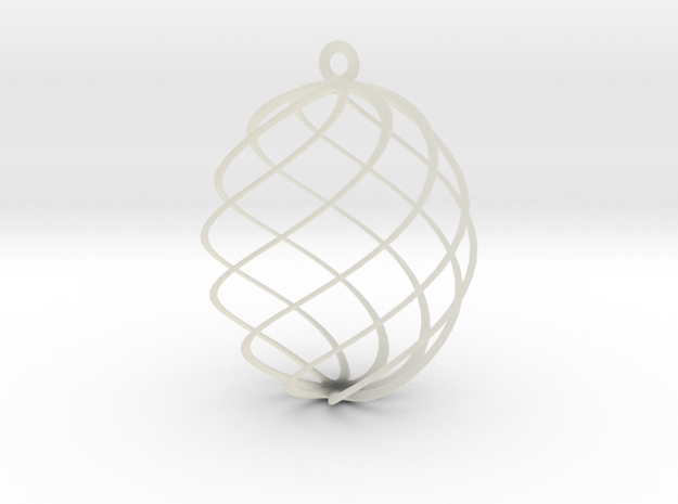 Egg Spun Ornament in Transparent Acrylic