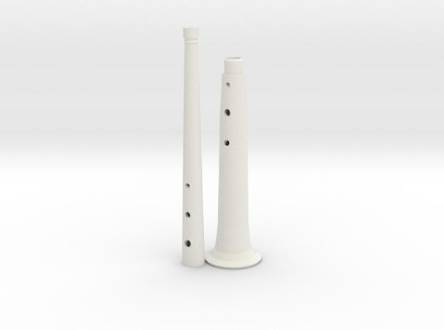 Tenor(+8) folk shawm 3d printed
